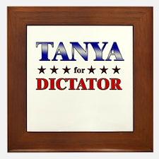 TANYA for dictator Framed Tile
