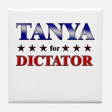 TANYA for dictator Tile Coaster