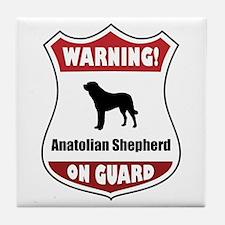 Anatolian On Guard Tile Coaster