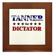 TANNER for dictator Framed Tile