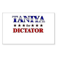 TANIYA for dictator Rectangle Decal