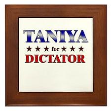 TANIYA for dictator Framed Tile