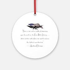 Andrew Carnegie-Libraries<br> Keepsake (Round)