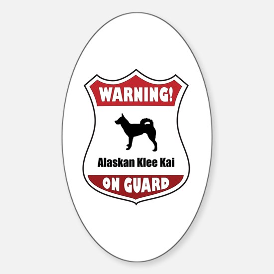 Klee Kai On Guard Oval Decal