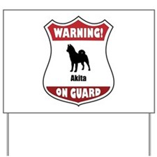 Akita On Guard Yard Sign