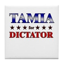 TAMIA for dictator Tile Coaster