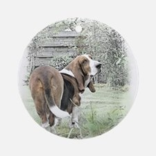 Banished Basset Ornament (Round)