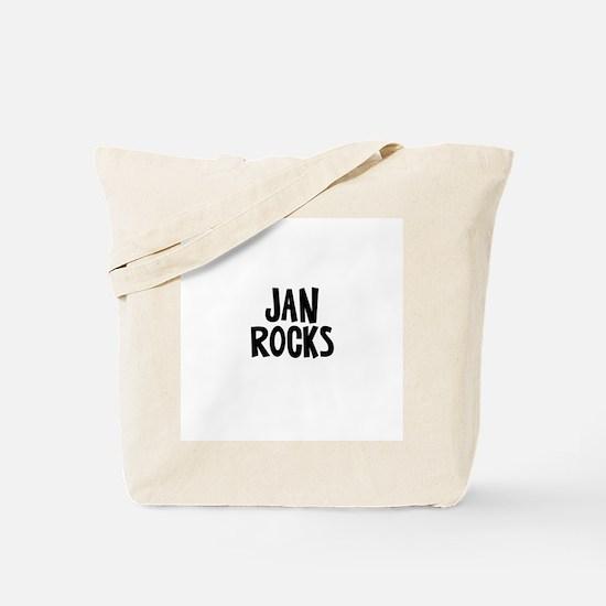 Jan Rocks Tote Bag