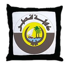 Emir of Qatar Throw Pillow