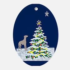 Greyhound North Star Oval Ornament