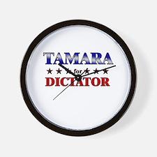 TAMARA for dictator Wall Clock