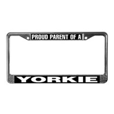 Proud Parent of a Yorkie License Plate Frame