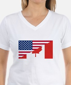 American Canadian Flag T-Shirt