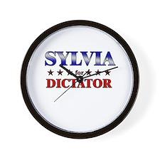 SYLVIA for dictator Wall Clock