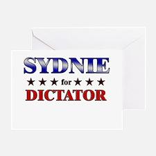 SYDNIE for dictator Greeting Card