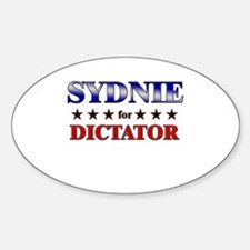 SYDNIE for dictator Oval Decal