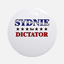 SYDNIE for dictator Ornament (Round)