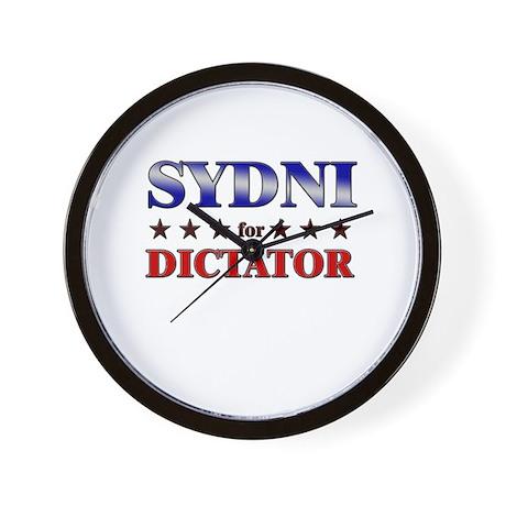 SYDNI for dictator Wall Clock