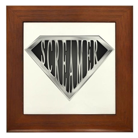 SuperScreamer(metal) Framed Tile