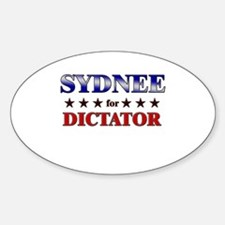SYDNEE for dictator Oval Decal