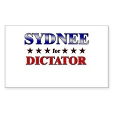 SYDNEE for dictator Rectangle Decal