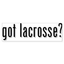 got lacrosse? Bumper Bumper Sticker