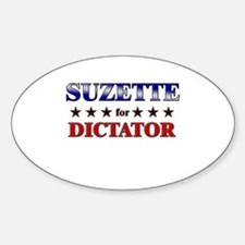 SUZETTE for dictator Oval Decal