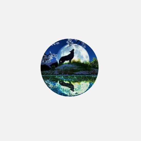 Coyote Moon Mini Button