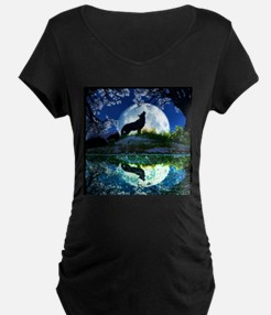Coyote Moon Maternity T-Shirt