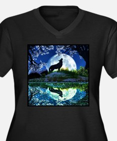 Coyote Moon Plus Size T-Shirt