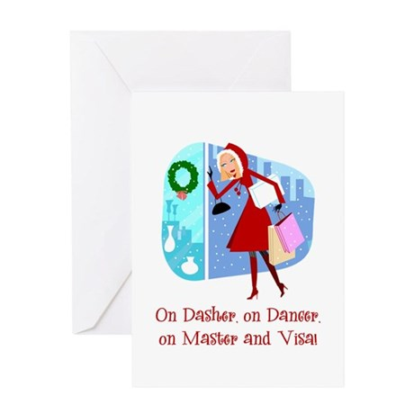 Master and Visa Greeting Card