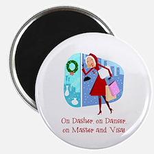 "Master and Visa 2.25"" Magnet (10 pack)"