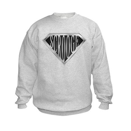 SuperScrooge(metal) Kids Sweatshirt