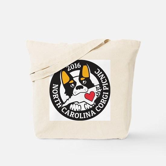 2016 NC Corgi Picnic logo-black border Tote Bag