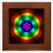 Rainbow Illusion Framed Tile