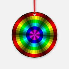 Rainbow Illusion Ornament (Round)