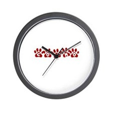 Cosmo Paw Prints Wall Clock