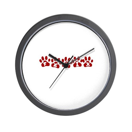 Felix Paw Prints Wall Clock