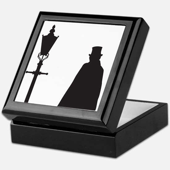 Jack The Ripper and Street Light Keepsake Box