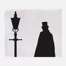 Jack The Ripper and Street Light Throw Blanket
