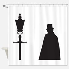 Jack The Ripper and Street Light Shower Curtain