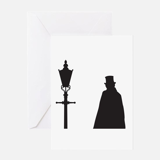 Jack The Ripper and Street Light Greeting Cards