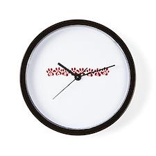 Garfield Paw Prints Wall Clock