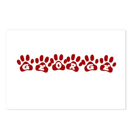 George Paw Prints Postcards (Package of 8)