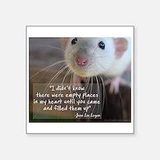 "Cute Pet rat Square Sticker 3"" x 3"""