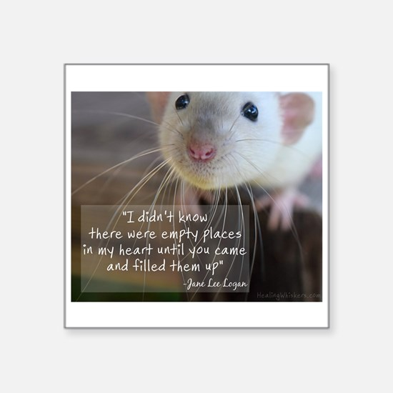 "Unique Pet rat Square Sticker 3"" x 3"""