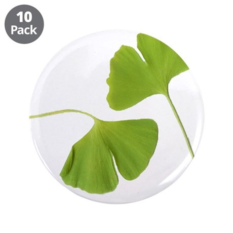"Ginkgo Biloba Leaves 3.5"" Button (10 pack)"