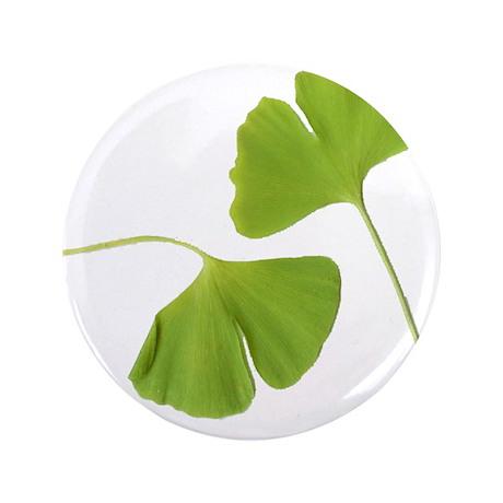 "Ginkgo Biloba Leaves 3.5"" Button"