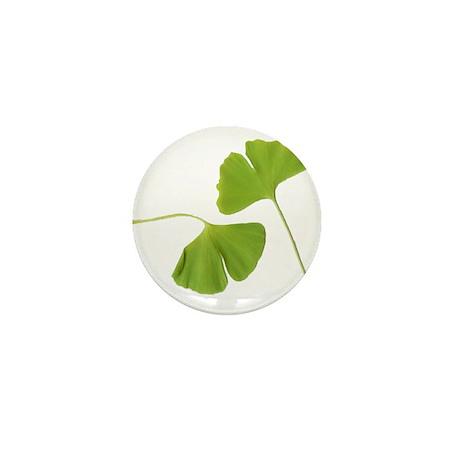 Ginkgo Biloba Leaves Mini Button