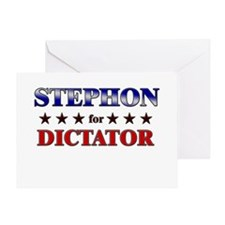 STEPHON for dictator Greeting Card
